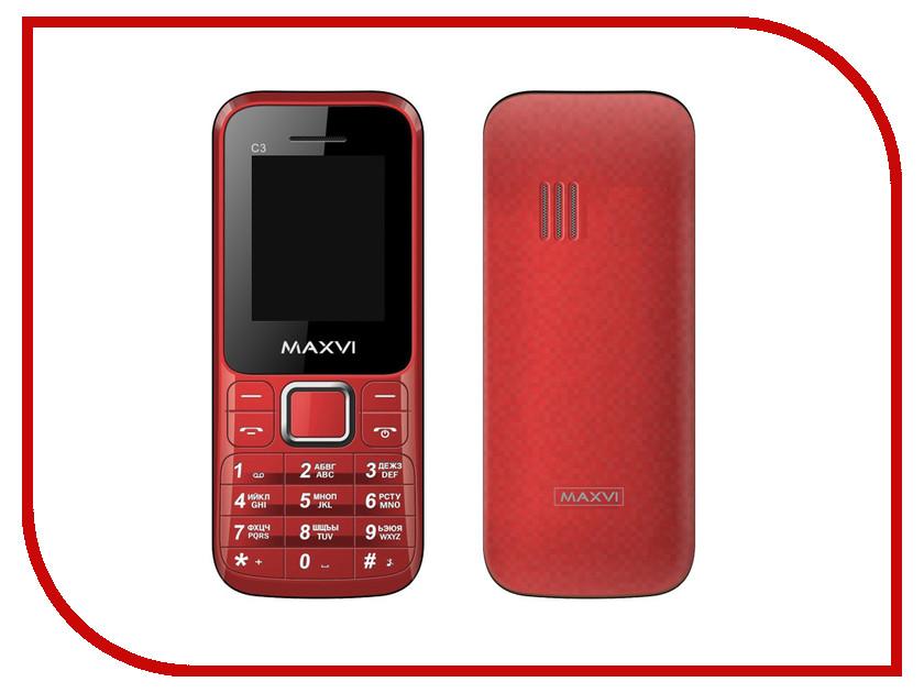 Сотовый телефон Maxvi C3 Red