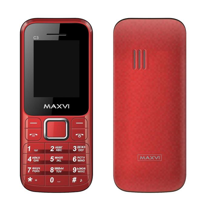 Сотовый телефон Maxvi C3 Red сотовый телефон maxvi c17 white red