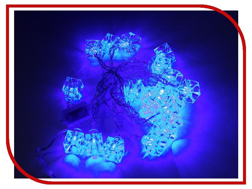 Гирлянда SnowHouse Кубики 20 светодиодных ламп LD020B-AY/BL гирлянда садовая 20 светодиодных ламп 4 8 м мультиколор
