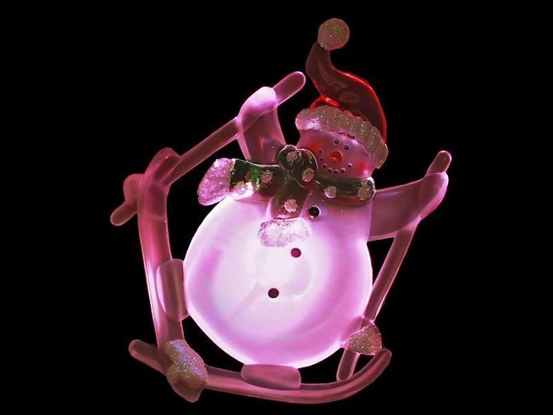 Светящееся украшение SnowHouse Снеговик SNM-SC-03