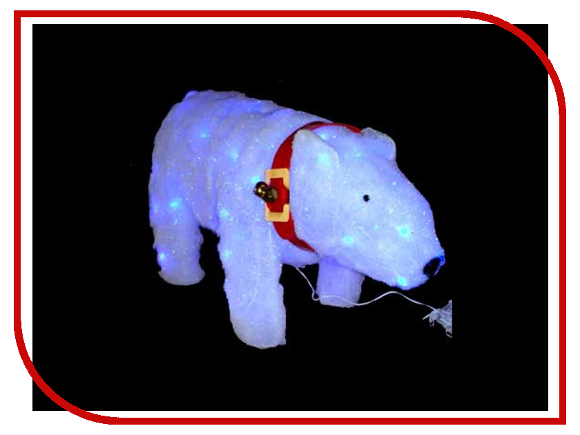 Новогодний сувенир SnowHouse Белый медведь MH60585E18 Blue