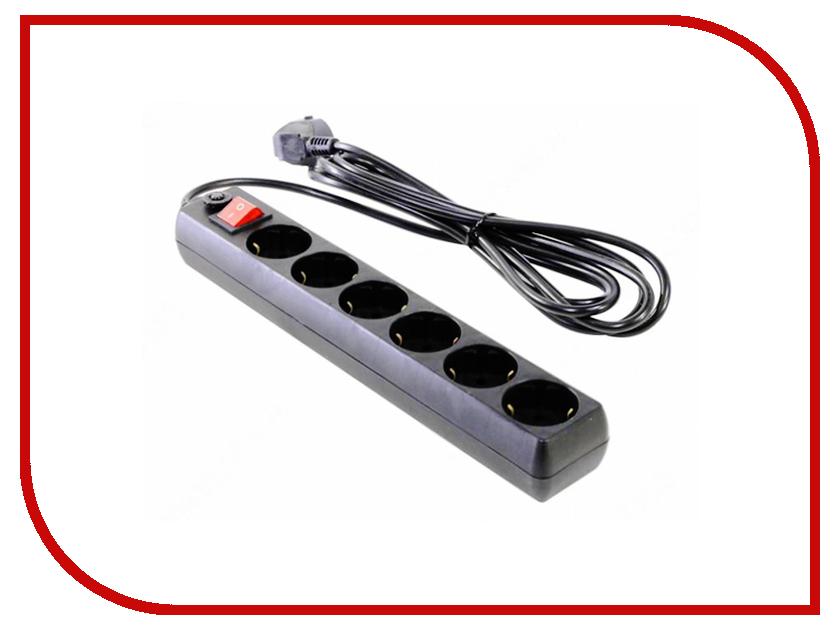 Сетевой фильтр Most H6 6 Sockets 5m Black 717216