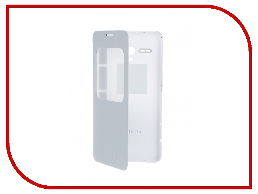 Аксессуар Чехол-книжка Alcatel OneTouch POP 3 (5.5) Aero FC5054 Flip Cover Soft Silver