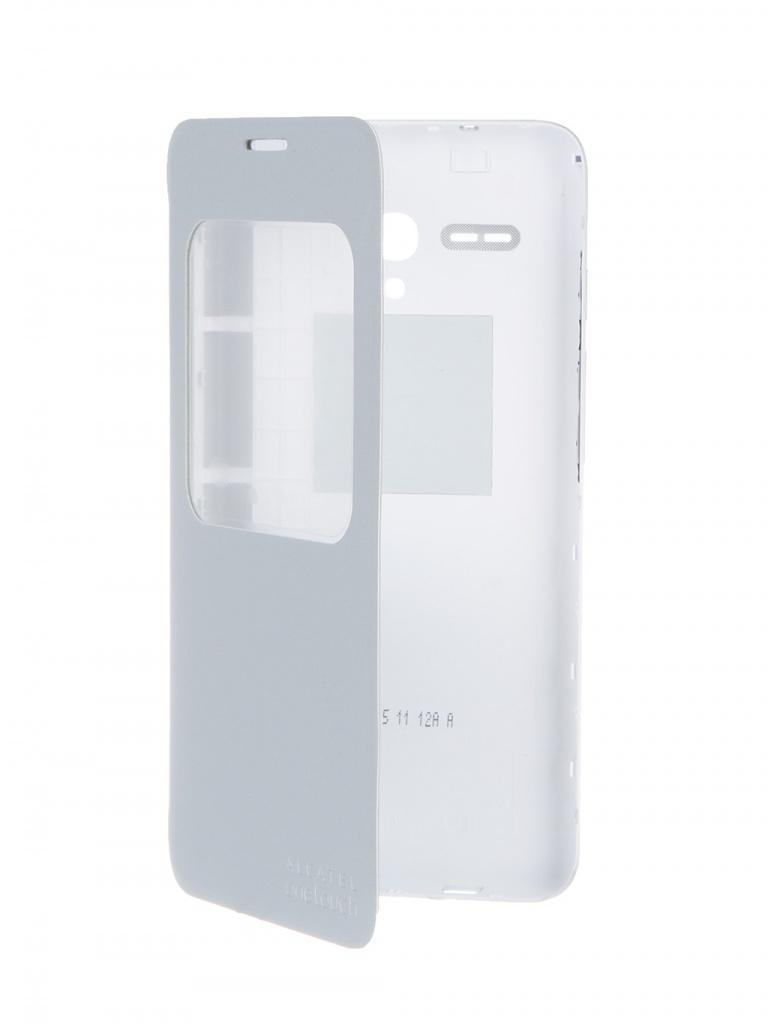 Аксессуар Чехол-книжка Alcatel OneTouch POP 3 (5.5) Aero FC5054 Flip Cover Soft Silver<br>