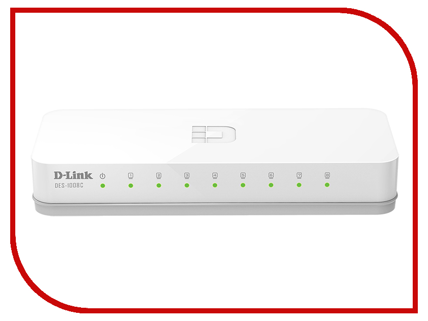 D-Link DES-1008C/A1A / A1B d link dhp p338av a1a powerline адаптер