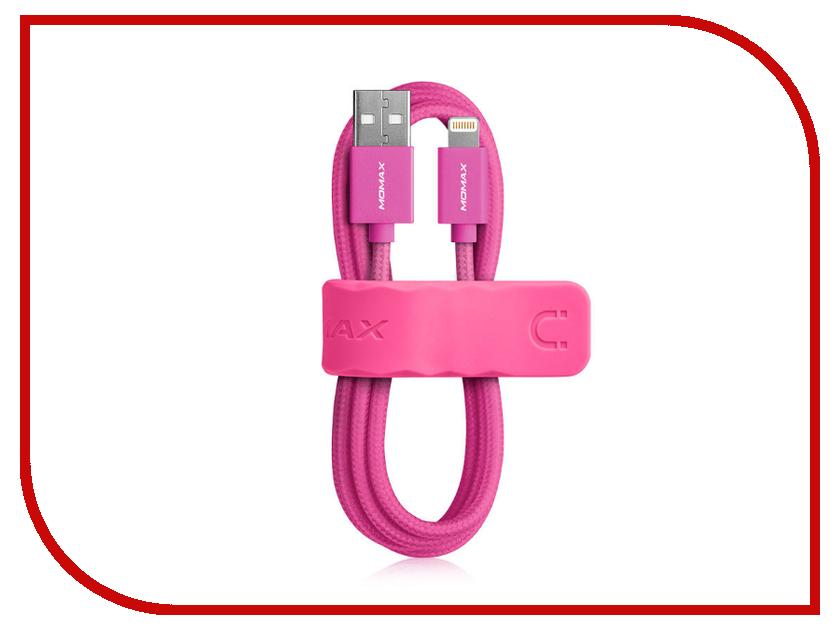 Аксессуар Кабель MOMAX USB to Lightning Elite Link MFI DDMMFILFP Pink<br>