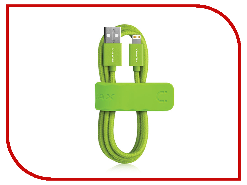 Аксессуар Кабель MOMAX USB to Lightning Elite Link MFI DDMMFILFP Green<br>