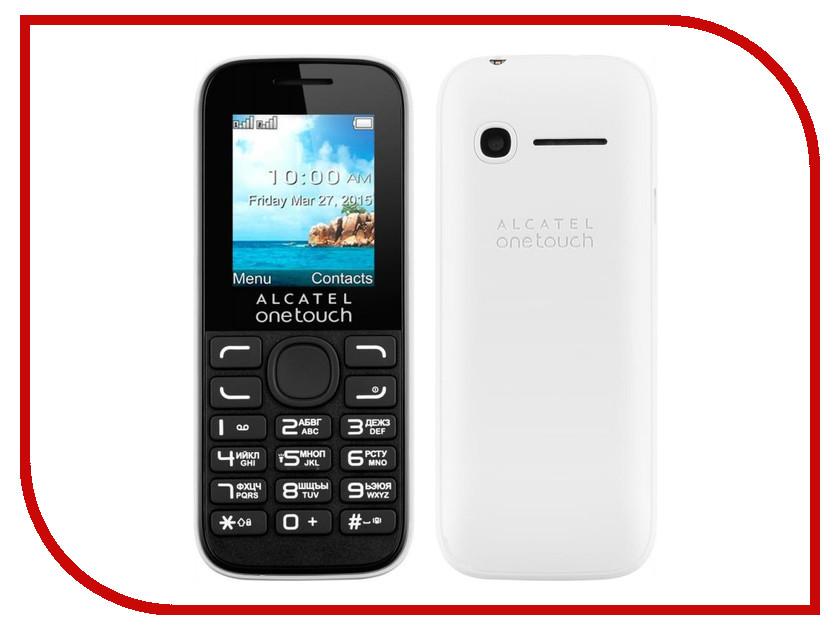 Сотовый телефон Alcatel OneTouch 1052D White
