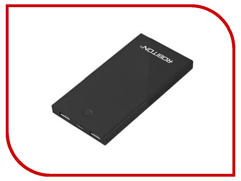 Аккумулятор Robiton Power Bank LP8.6-K Soft Touch 8600 mAh BL1 Black 13210
