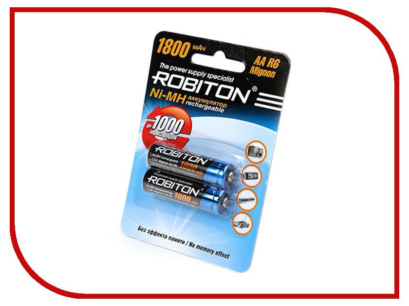 Аккумулятор AA - Robiton 1800 mAh 1800MHAA prof SR2 13174 (2 штуки) аккумулятор aa robiton 2850 mah ni mh 2 штуки