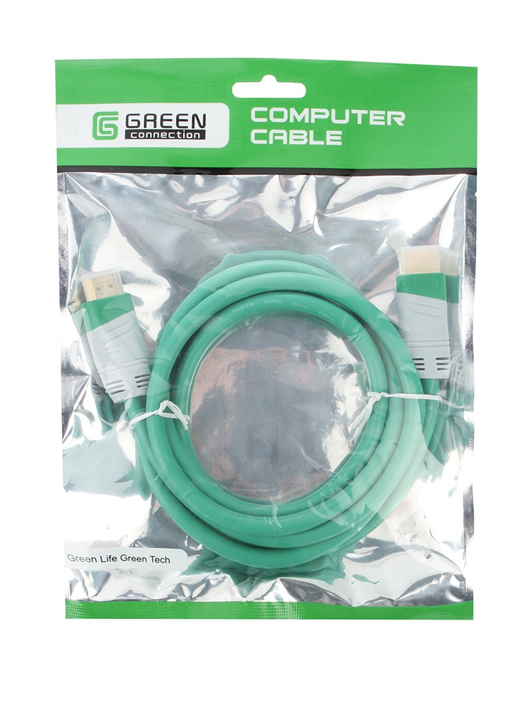 Аксессуар Greenconnect HDMI 19M 1.8m Green GC-GCHD01-1.8m<br>