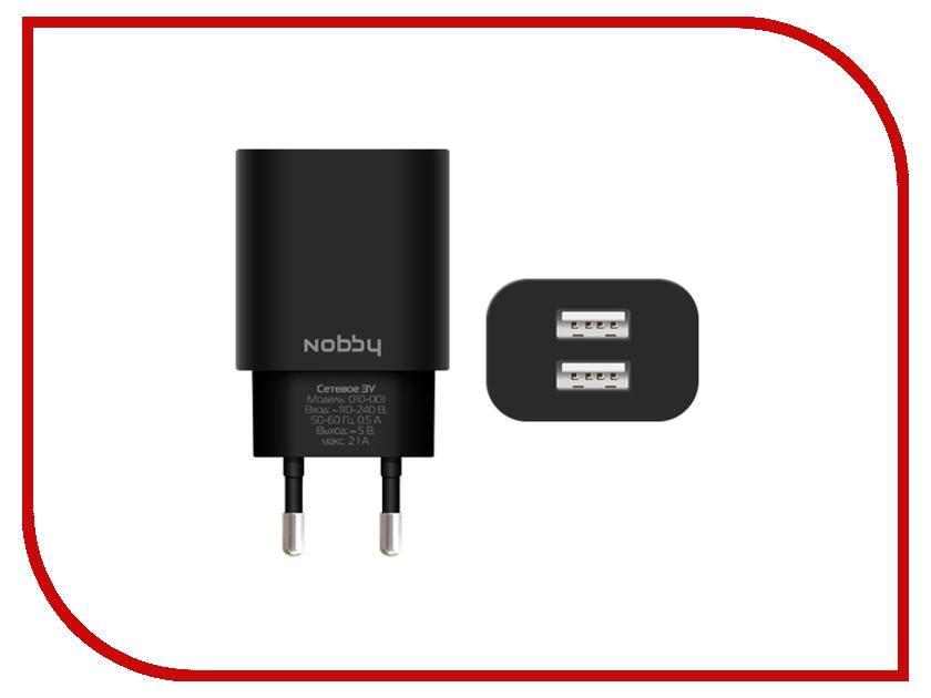 Зарядное устройство Nobby Comfort 010-001 2xUSB 2.1A (1/1A) SoftTouch Black
