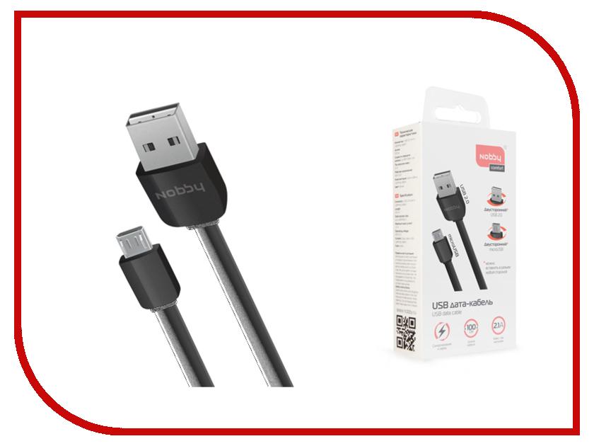 Аксессуар Nobby Comfort 010-001 USB-microUSB 2A 1m Black маникюрный набор homedics elm ped500 eu белый