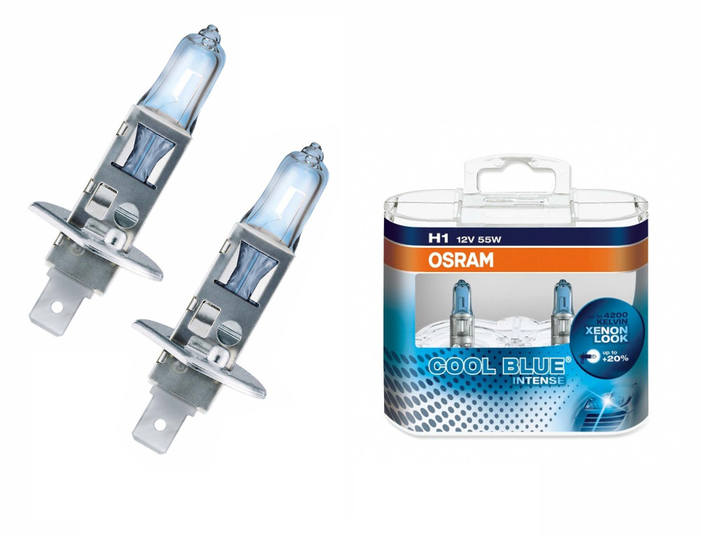Лампа OSRAM H1 55W P14.5s Cool Blue Intense 64150CBI DUOBOX (2 штуки)<br>