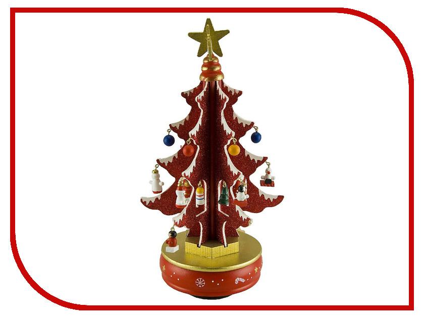 Новогодний сувенир Mister Christmas Красная елка с украшениями MB-52096<br>