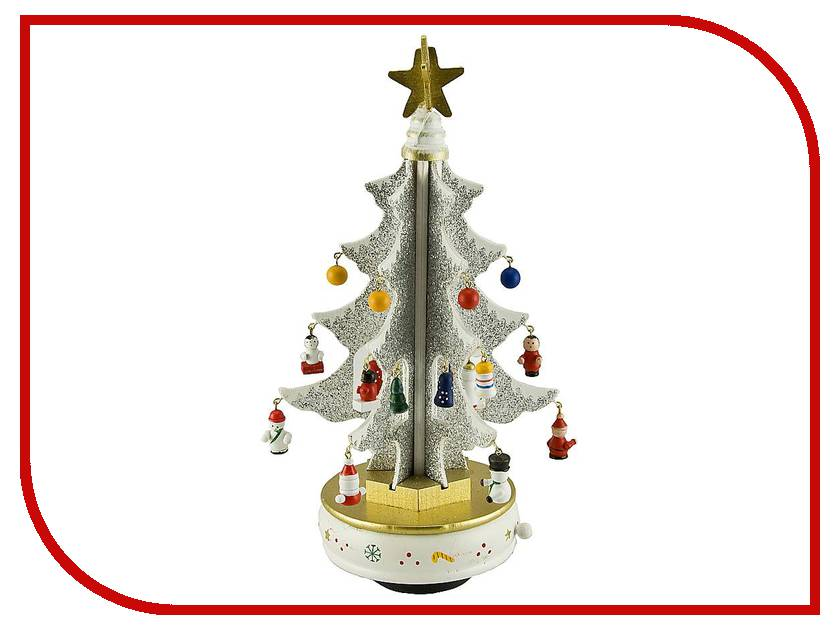 Новогодний сувенир Mister Christmas Белая елка с украшениями MB-52097<br>