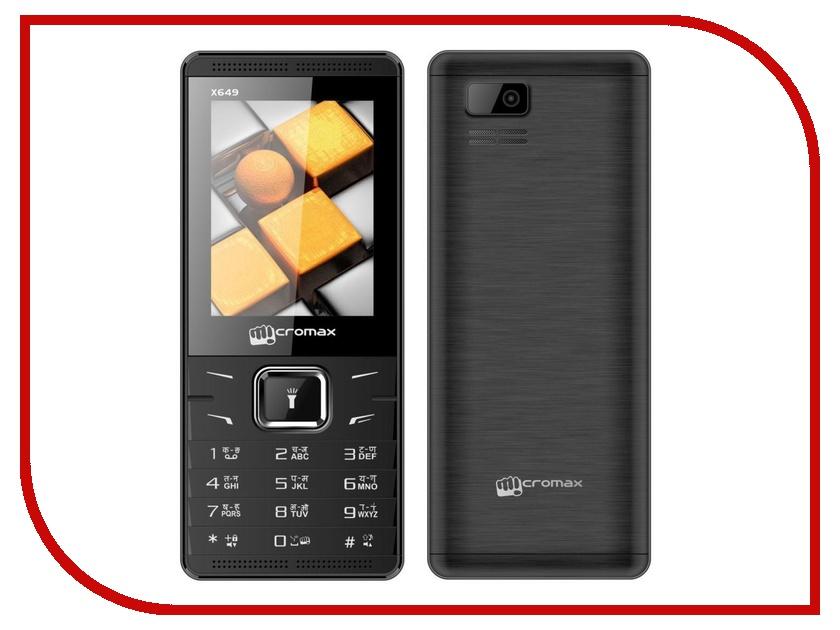 Сотовый телефон Micromax X649 Black