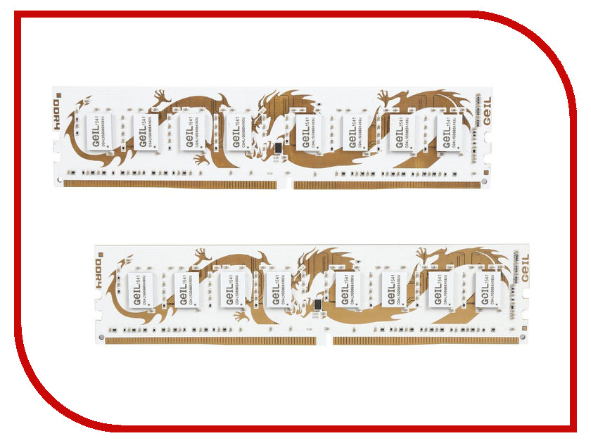 Модуль памяти GeIL Gamer Series Dragon DDR4 2800MHz DIMM - 16Gb KIT (2x8Gb) GWW416GB2800C16DC<br>