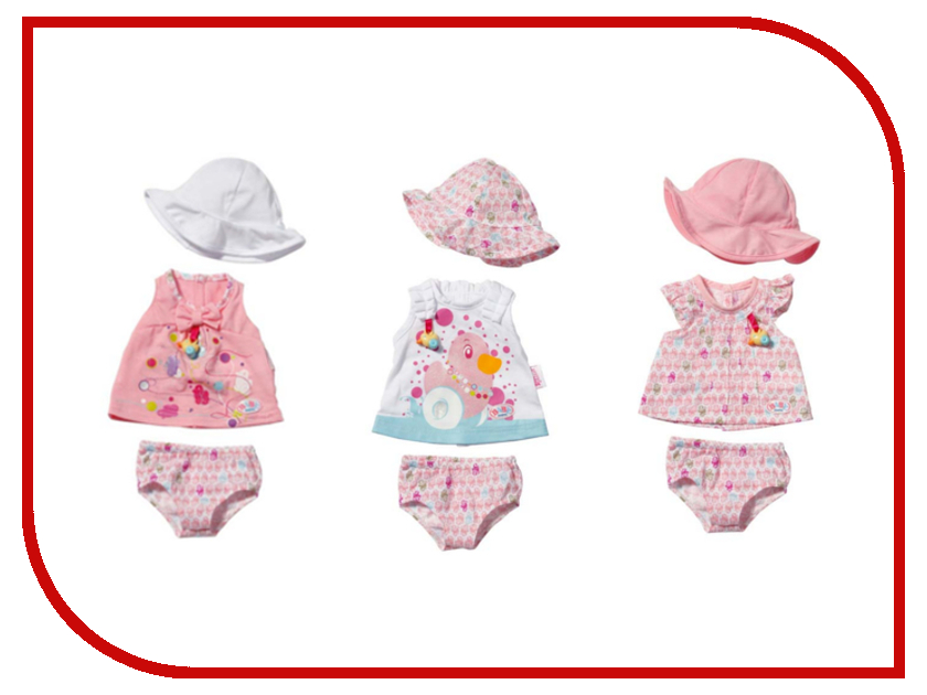Игра Zapf Creation Baby Born Одежда летняя 819-388<br>