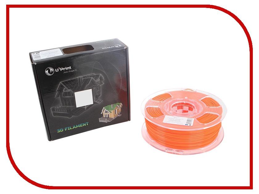 Аксессуар U3Print PLA-пластик 1.75mm 1kg Mandarine Fluory HP аксессуар u3print pla пластик 1 75mm 1кг sunflower fluory hp