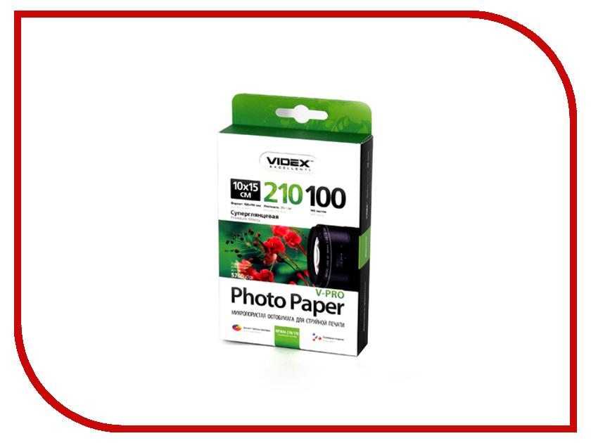 Фотобумага Videx MPHA6-210/100 A6 210g/m2 Микропористая суперглянцевая 100 листов<br>