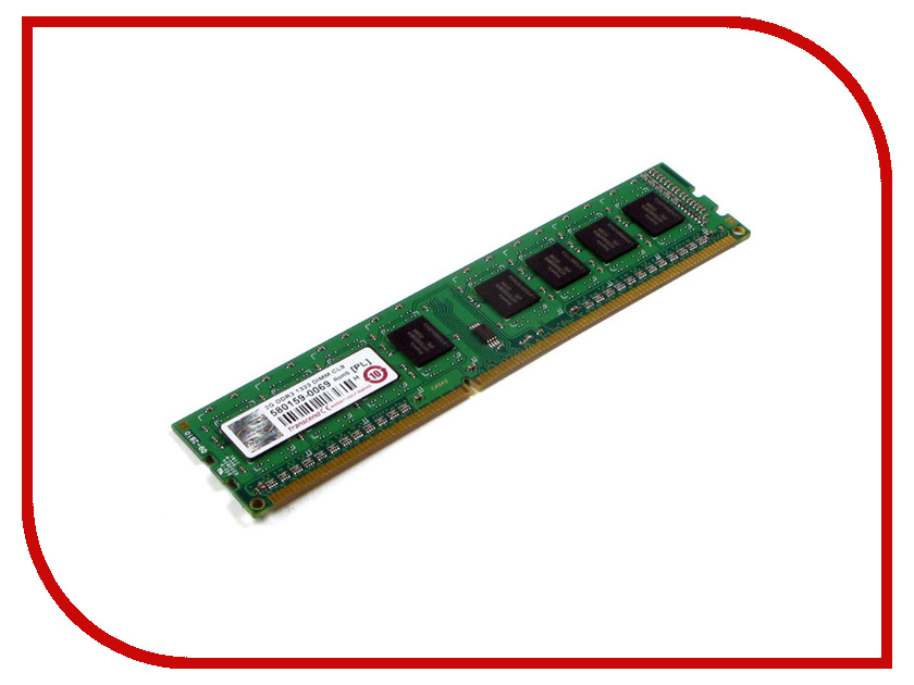 Модуль памяти Transcend DDR3 DIMM 1333MHz PC3-10600 - 4Gb TS512MLK64V3N