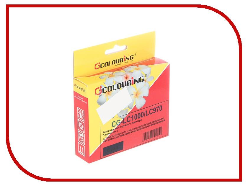Картридж Colouring CG-LC1000C/LC970BC для Brother DCP-130C/135C/150C/235C/330C/350C/440CN/750CW/MFC-240C/260C/660CN/665CW/885CW/360C/5460CN/5860CW Cyan<br>