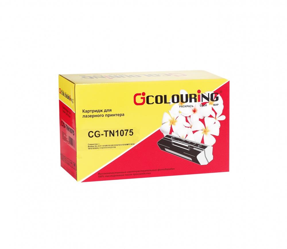 Картридж Colouring CG-TN-1075 для Brother DCP-1510R/1512R/1510/1511/MFC1810/1815/HL1110/1111/1112/1118 1000 копий