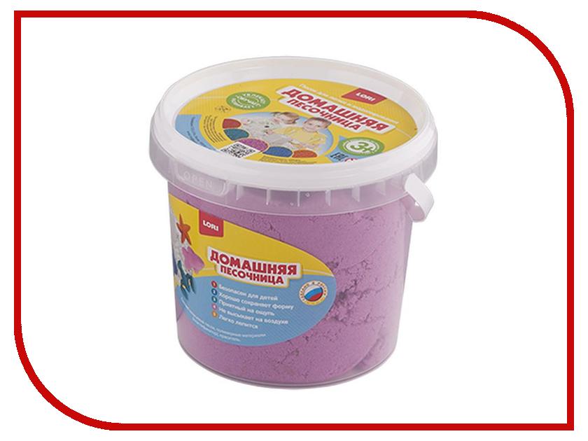 Набор для лепки Lori Домашняя песочница Песок розовый 1kg Дп-014 всё для лепки lori набор для рисования пластилином рыжий озорник объёмная картина