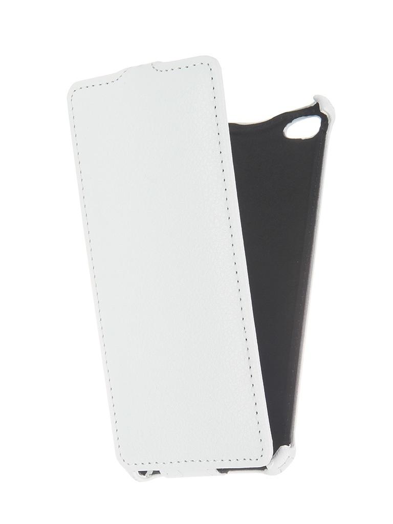 Аксессуар Чехол-флип Micromax Q450 Canvas Silver 5 Gecko White GG-F-MICQ450-WH