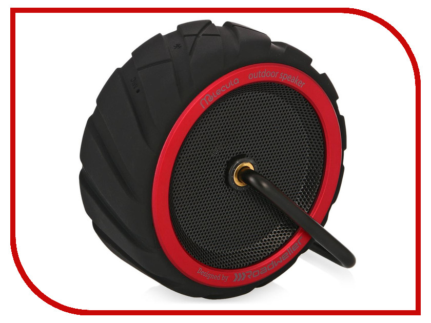 Колонка Molecula BPS-101 Bluetooth Black-Red<br>
