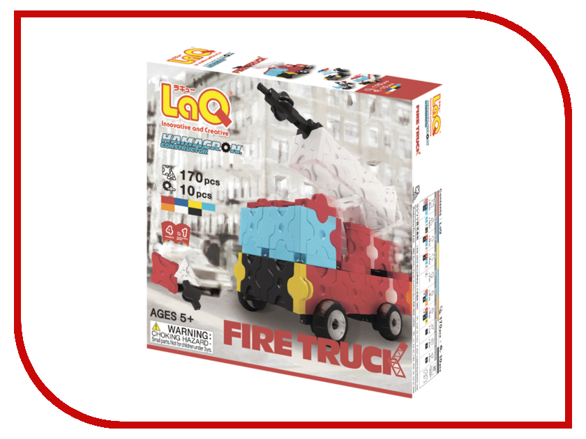Игрушка Конструктор LAQ Hamacron Fire Truck<br>