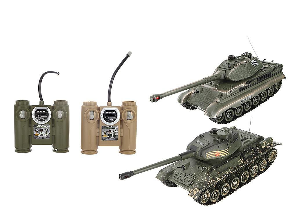 Радиоуправляемая игрушка Пламенный мотор Танковый бой 870164 настольные игры тридевятое царство игра настольная танковый бой