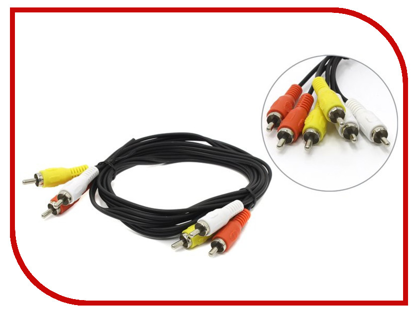 Аксессуар Telecom 3xRCA M - 3xRCA M 1.5m TAV7150-1.5M<br>
