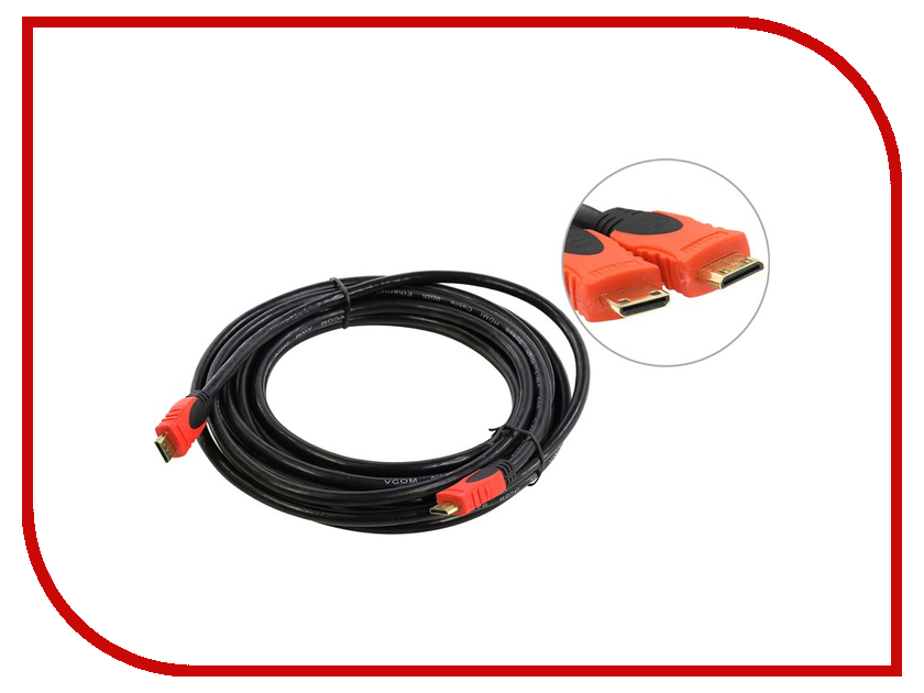 Аксессуар VCOM Mini HDMI 19M 5m VHD6210D-5MB<br>