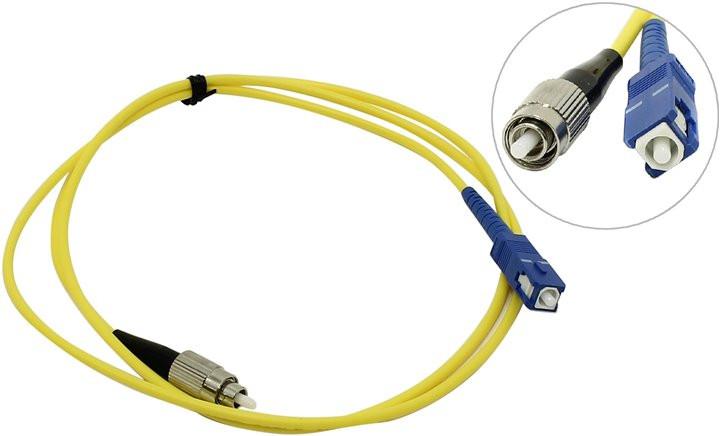 Сетевой кабель VCOM Optical Patch Cord FC-SC UPC Simplex 1m VSU102-1M оптический шнур vcom lc fc upc одномодовый simplex vsu301 1m