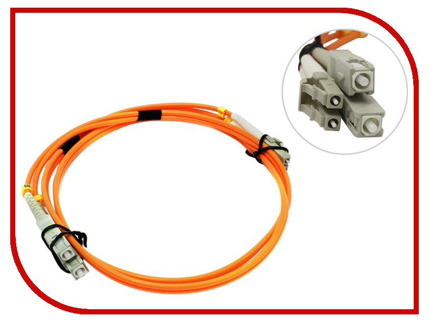 Аксессуар VCOM Optical Patch Cord LC-SC UPC Duplex 1m VDU302-1M<br>