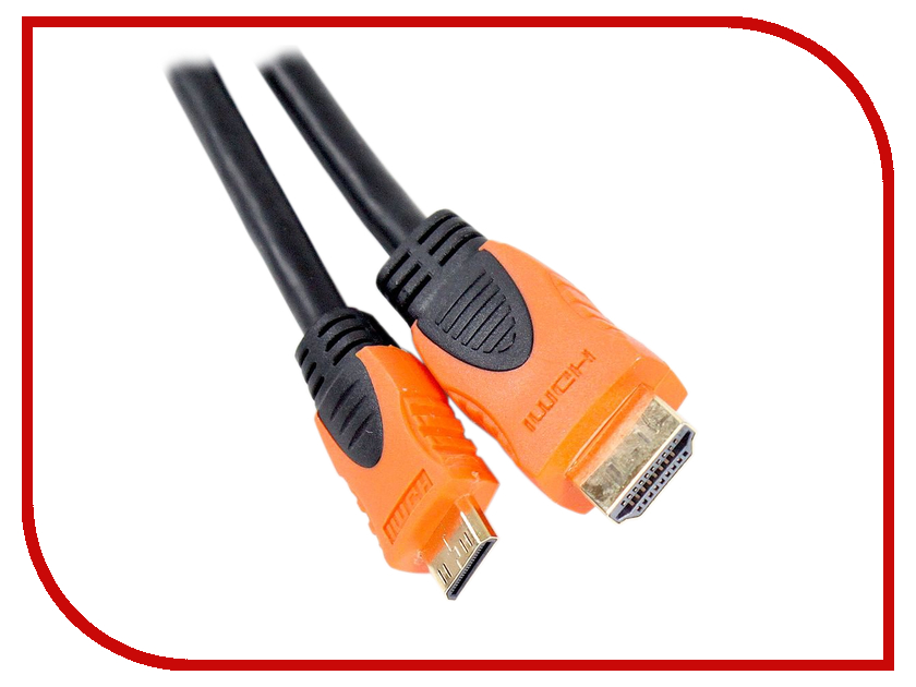 Картинка для Аксессуар AOpen HDMI 19M to Mini HDMI 1.8m ACG582O-1.8M