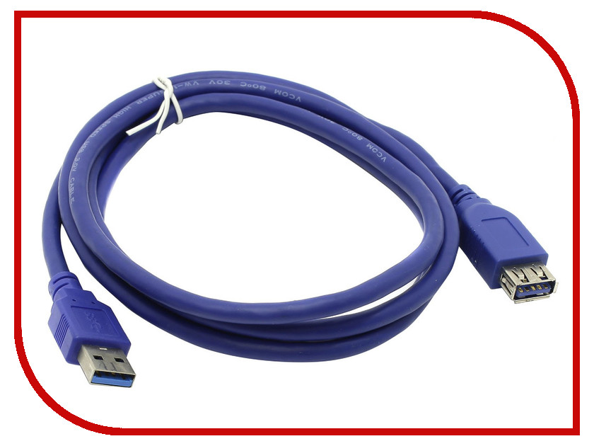 Аксессуар VCOM USB 3.0 AM-AF 1.8m VUS7065-1.8M кабель удлинительный vcom usb3 0 am af 3m vus7065 3m