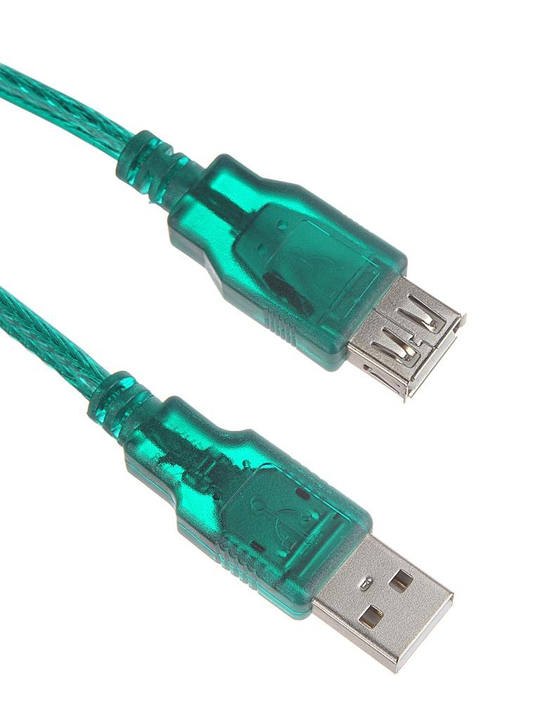 Аксессуар AOpen USB 2.0 AM-AF Transparent-Green 3m ACU202-3MTG