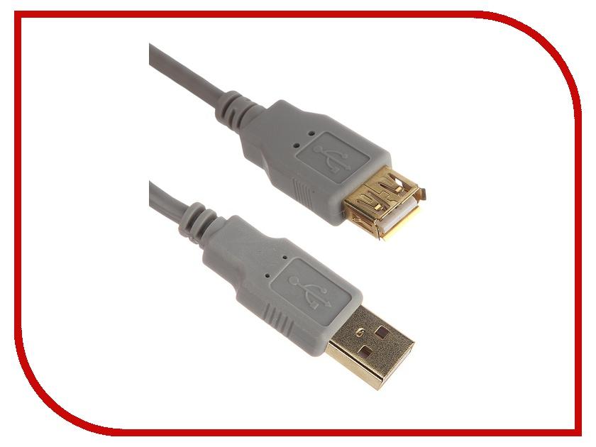 Аксессуар AOpen USB 2.0 AM-AF Grey 3m ACU202-3G<br>