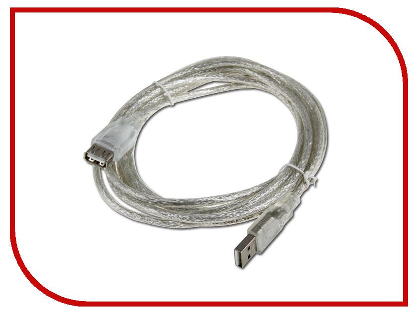 Аксессуар VCOM USB 2.0 AM-AF Transparent 3m VUS6936-3M<br>