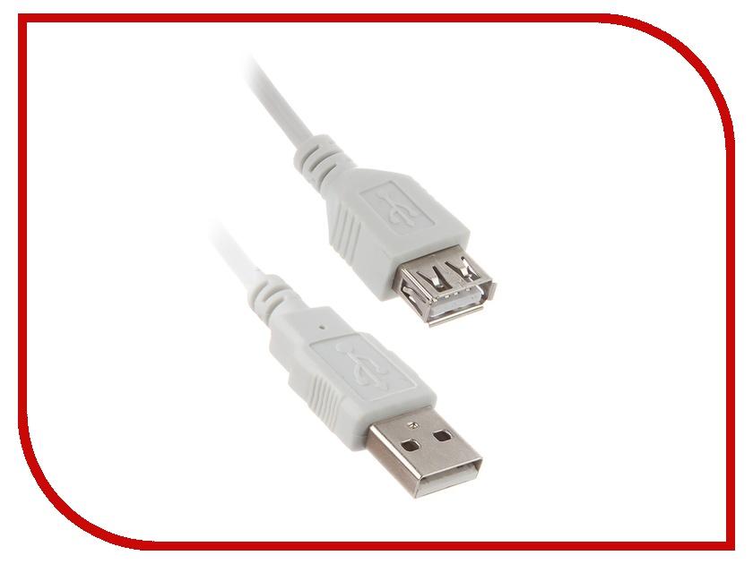 цена на Аксессуар Telecom USB 2.0 AM-AF Grey 1.8m TC6936-1.8MO-GY