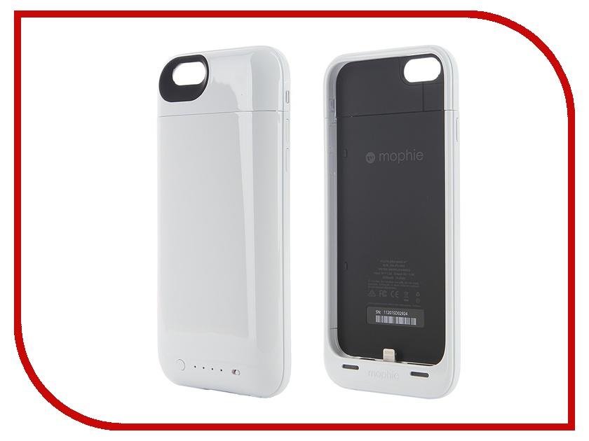 Аксессуар Чехол-аккумулятор Mophie Juice Pack Air для iPhone 6 White 2750 mAh 3044-JPA-IP6-WHT<br>
