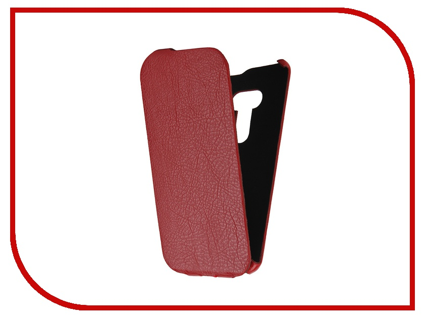 Аксессуар Чехол-книжка Cojess for ASUS ZenFone 2 Selfie ZD551KL Ultra Slim Экокожа Флотер Red