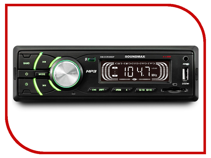 SM-CCR3053F  Автомагнитола Soundmax SM-CCR3053F
