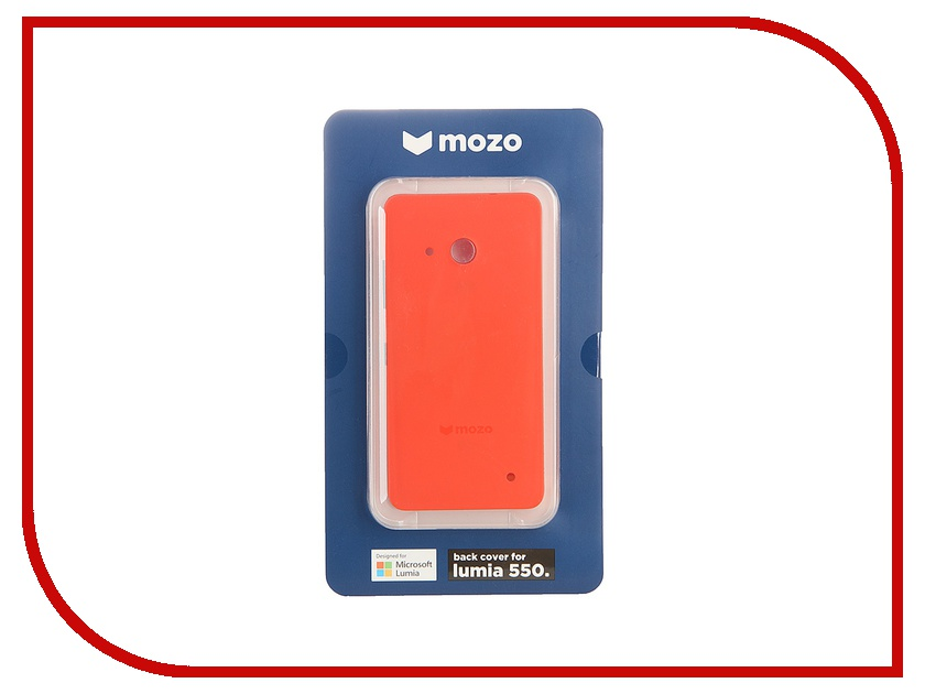 Аксессуар Чехол Microsoft Lumia 550 Mozo Back Cover Orange<br>