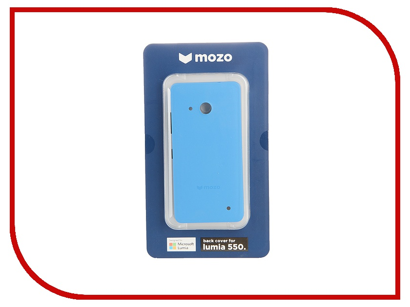 Аксессуар Чехол Microsoft Lumia 550 Mozo Back Cover Blue<br>