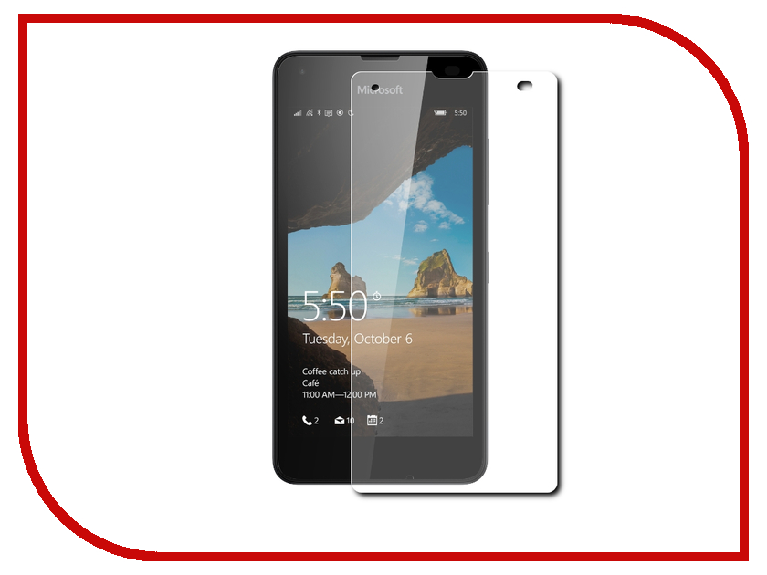 Аксессуар Защитное стекло Microsoft Lumia 550 Onext 41006 аксессуар защитная пленка microsoft lumia 550 550 dual sim aksberry матовая