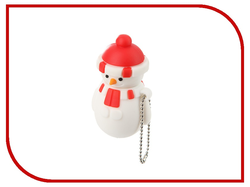 USB Flash Drive 4Gb - Союзмультфлэш Снеговик Red FM4HD3.04.R<br>